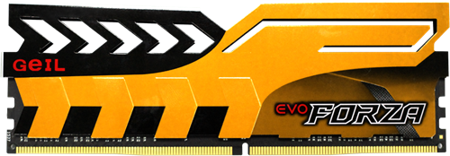 16GB (8GB*2) GEIL FORZA Series DDR4 PC4-25600 3200MHz, CL16 Dual Channel, Yellow