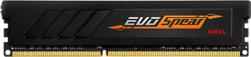 4GB GEIL EVO SPEAR Series DDR4 PC4-19200 2400MHz, CL16 Single Channel, Black