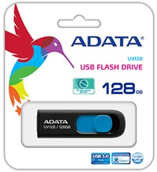 128GB USB Flash Disk Drive, USB 3.0, DashDrive UV128, Black/Blue