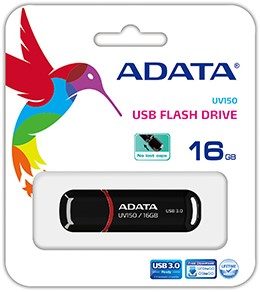 16GB USB 3.0 Flash Disk Drive, ADATA UV150, Black