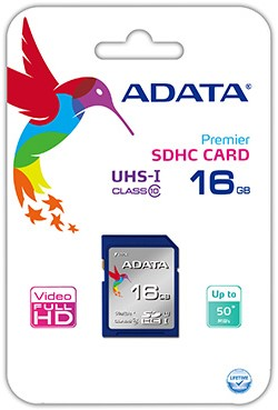 16GB SDHC Card, UHS-I, Class 10