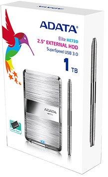 1TB ADATA HE720 External Hard Disk, ULTRA THIN.
