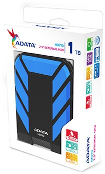 1TB External Hard Disk, USB 3.0, ADATA HD710, Blue