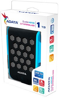 1TB External Hard Disk, USB 3.0, ADATA HD720, Blue