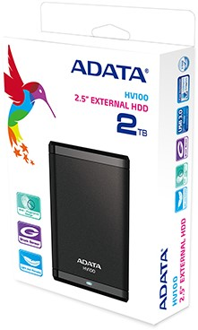 2TB External Hard Disk Drive, ADATA Dashdrive, USB 3.0, Black