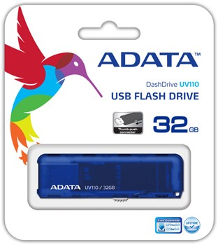 32GB USB Pendrive, UV110, USB 2.0, Blue