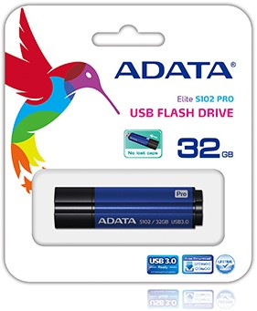 32GB USB Flash Disk Drive, USB 3.0, S102 Pro Advanced, Titanium Blue