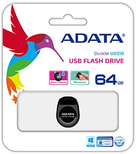 64GB USB Flash disk, ADATA UD310, USB 2.0, Black