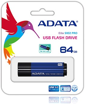 64GB USB Flash Disk Drive, USB 3.0, S102 Pro Advanced, Titanium Blue