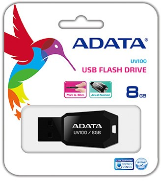 8GB USB Pendrive, UV100, USB 2.0, Black