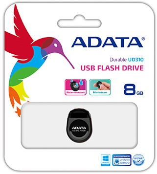 8GB USB Flash disk, ADATA UD310, USB 2.0, Black