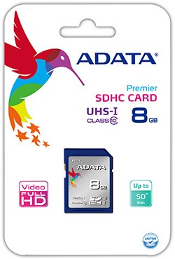 8GB SDHC Card, UHS-I Class 10