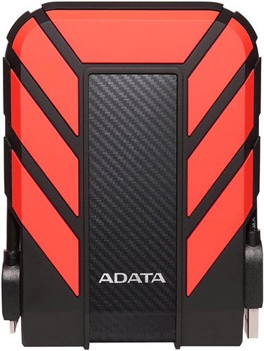 4TB External Hard Disk, USB 3.2, ADATA HD710 PRO, RED
