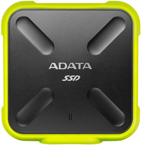 256GB External SSD, USB 3.2, SD700, Yellow