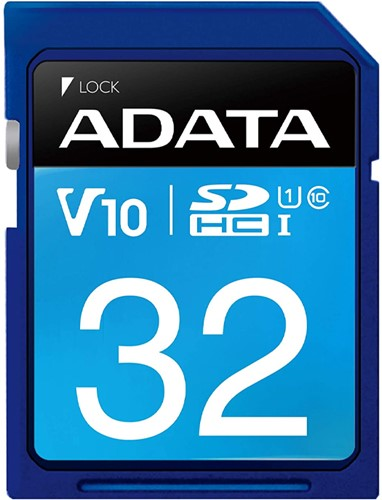 32GB SDHC Card, UHS-I, Class 10