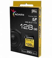 128GB SDXC Card, ADATA Premier ONE UHS-II, U3 Class 10-2
