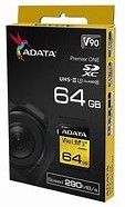 64GB SDXC Card, ADATA Premier ONE UHS-II, U3 Class 10-2