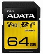 64GB SDXC Card, ADATA Premier ONE UHS-II, U3 Class 10