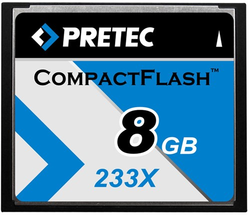 8GB Pretec Compact Flash Card 233x