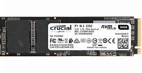 500GB Crucial® P1 3D NAND NVMe™ PCIe® M.2 SSD