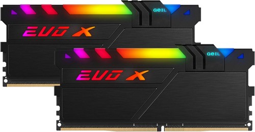 32GB (2X16GB) GEIL Evo X II DDR4 PC4-19200 2400MHz, CL16 Dual Channel