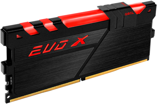 16GB GEIL EVO X Series DDR4 PC4-17000 2133MHz, CL15 Single Channel, Black