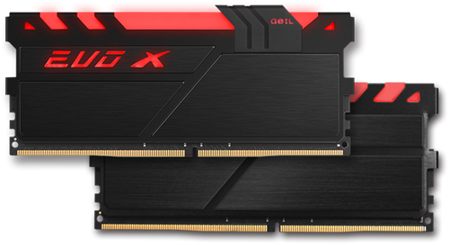 16GB (8GB*2) GEIL EVO X Series DDR4 PC4-19200 2400MHz, CL16 Dual Channel, Black