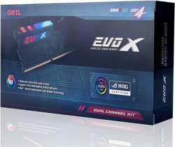 16GB (8GB*2) GEIL EVO X ROG-Certified Series DDR4 PC4-24000 3000MHz, CL15 Dual Channel, Black