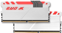 16GB (8GB*2) GEIL EVO X Series DDR4 PC4-19200 2400MHz, CL15 Dual Channel, White