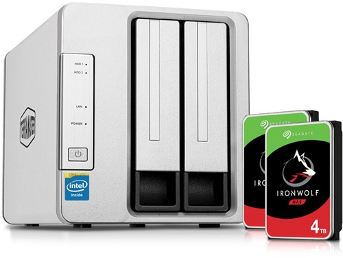 Bundle TerraMaster F2-221 2-Bay NAS for Small Business + 8TB (2 x 4TB) Seagate HDD