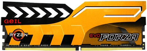 8GB GEIL FORZA AMD Series DDR4 PC4-19200 2400MHz, CL16 Single Channel, Yellow