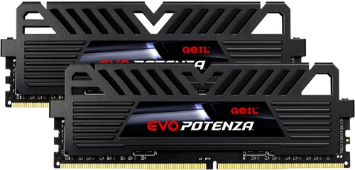 32GB (16GB*2) GEIL EVO POTENZA Series DDR4 PC4-25600 3200MHz, CL16 Dual Channel, Black