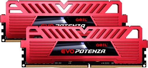 32GB (16GB*2) GEIL EVO POTENZA Series DDR4 PC4-19200 2400MHz, CL16 Dual Channel, Red