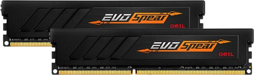8GB (4GB*2) GEIL EVO SPEAR Series DDR4 PC4-24000 3000MHz, CL16 Dual Channel, Black