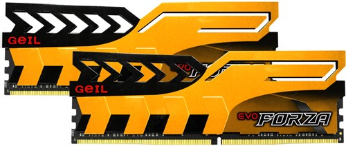 32GB (16GB*2) GEIL FORZA Series DDR4 PC4-21330 2666MHz, CL19 Dual Channel, Yellow