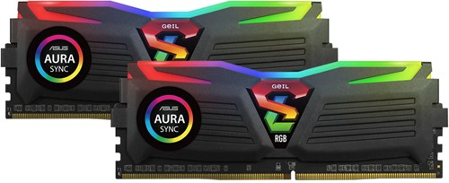 16GB (8GB*2) GEIL Super Luce RGB Lite Series DDR4 PC4-21330 2666MHz, CL15 Dual Channel, Black