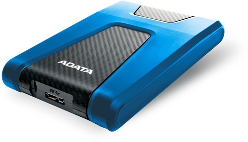 1TB External Hard Disk, USB 3.1, ADATA DashDrive Durable HD650, Blue-2