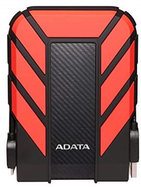 2TB External Hard Disk, USB 3.1, ADATA HD710 PRO, RED