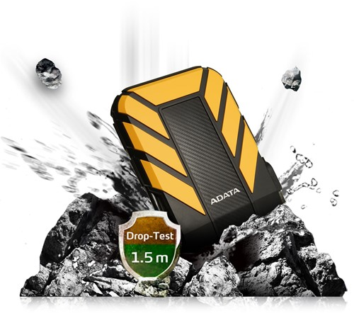 1TB External Hard Disk, USB 3.1, ADATA HD710 PRO, Yellow-3