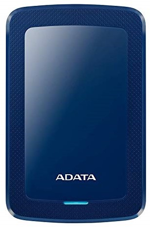 1TB Portable Hard Disk, USB 3.1, ADATA HV300, Blue