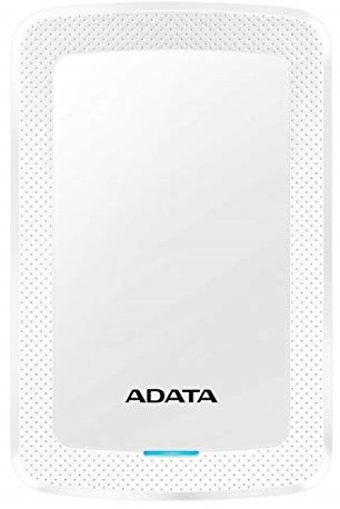 2TB Portable Hard Disk, USB 3.1, ADATA HV300, White