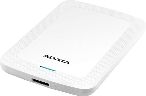 2TB Portable Hard Disk, USB 3.1, ADATA HV300, White-2
