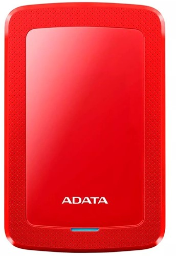 1TB Portable Hard Disk, USB 3.1, ADATA HV300, Red