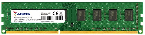 4GB Memory upgrade, UDIMM DDR3, 1600MHz, C11,