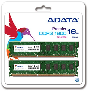 16GB (2 x8GB) upgrade kit, UDIMM DDR3, 1600MHz, C11,