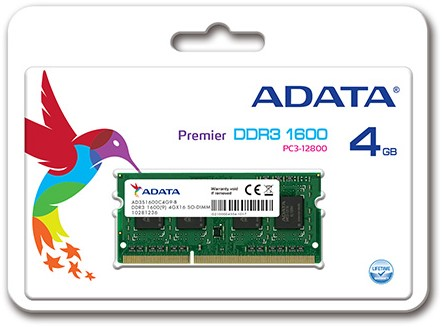 4GB SO-DIMM DDR3, 1600MHz, 204pin, C11, 1,5V-2