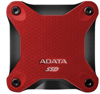 256GB External SSD, USB 3.1, SD600, Red