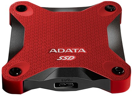 512GB External SSD, USB 3.1, SD600, Red-2