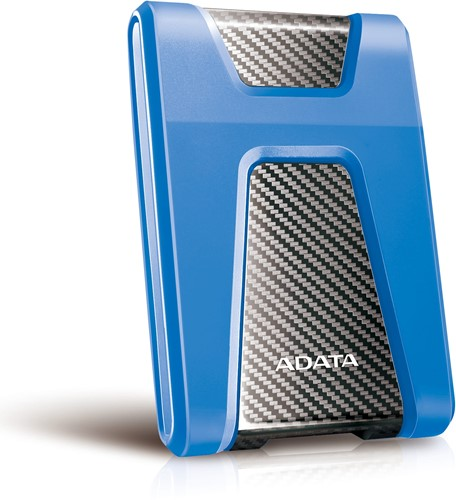 2TB External Hard Disk, USB 3.1, ADATA DashDrive Durable HD650, Blue