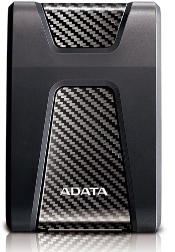 2TB External Hard Disk, USB 3.0, ADATA DashDrive Durable HD650, Black